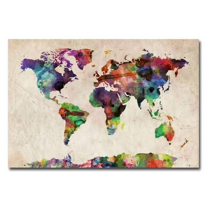 37 Eye Catching World Map Posters You Should Hang On Your Walls Pertaining To World Map Wall Artwork (Image 3 of 20)