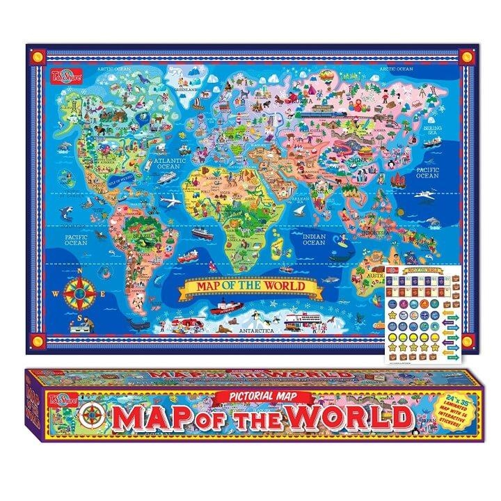 37 Eye Catching World Map Posters You Should Hang On Your Walls With World Map Wall Art For Kids (View 19 of 20)