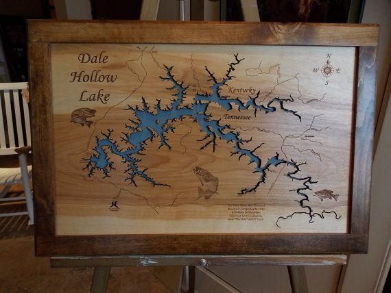 38 Best Framed Laser Cut Wood Lake Maps Images On Pinterest | Maps Inside Lake Map Wall Art (View 9 of 20)