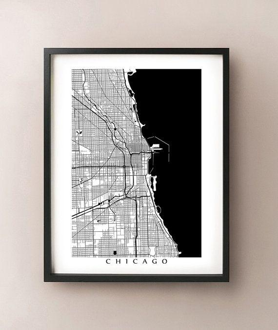 43 Best Chicago Art Images On Pinterest | Chicago Art, Posters And In Chicago Map Wall Art (Image 3 of 20)