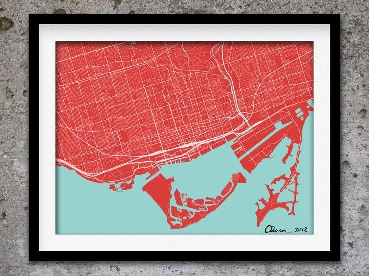 44 Best Map Wall Project Images On Pinterest | Bedrooms, Places To For Map Wall Art Toronto (View 9 of 20)