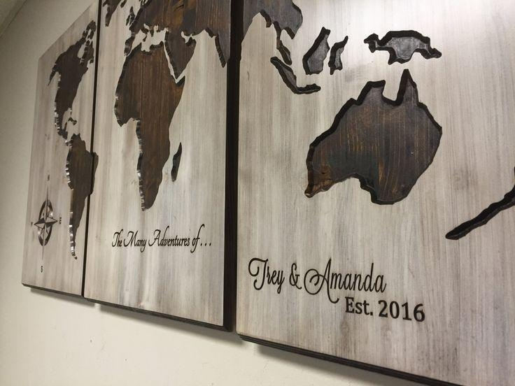 46 Best Art Images On Pinterest | World Maps, Barn Wood And Map Pertaining To Custom Map Wall Art (View 11 of 20)