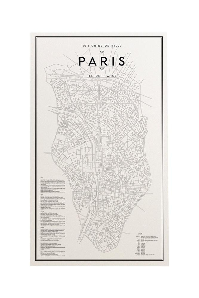 47 Best Maps And Travel Graphic Inspiration Images On Pinterest Regarding Paris Map Wall Art (Image 4 of 20)