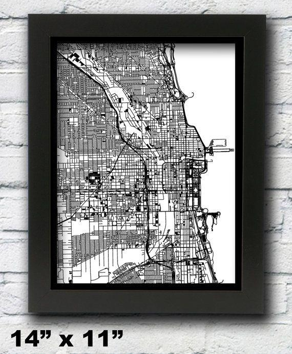 50 Best Maps Images On Pinterest | Map Art, Cards And Papercutting Inside City Map Wall Art (Image 4 of 20)