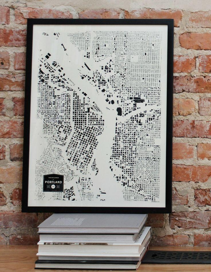 54 Best Moving To Portland, Oregon Images On Pinterest | Portland Throughout Portland Map Wall Art (View 5 of 20)