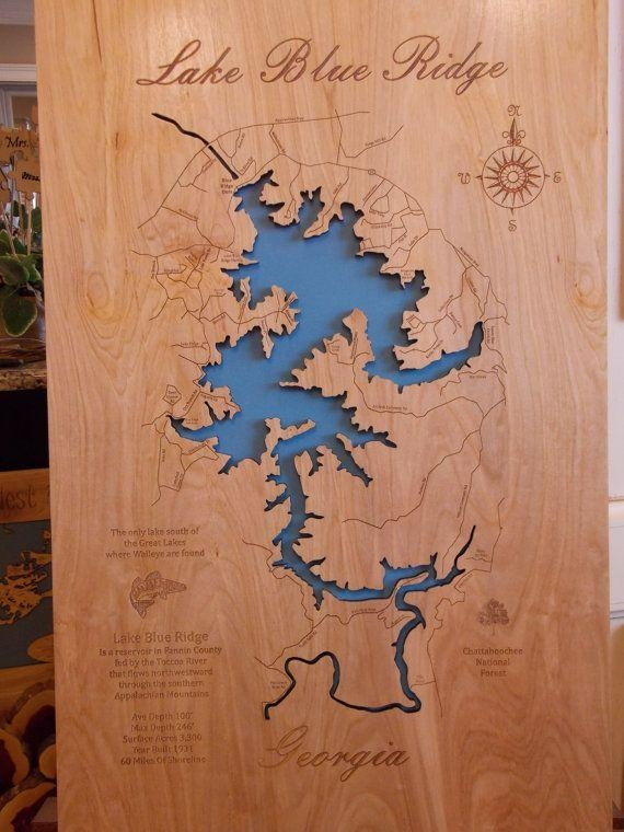 56 Best Lake Maps Images On Pinterest | Cartography, Globes And Inside Lake Map Wall Art (Image 4 of 20)