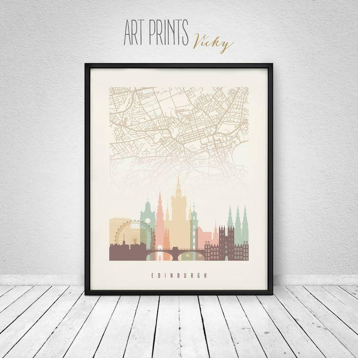 58 Best Skylines With City Maps Images On Pinterest | City Maps With City Prints Map Wall Art (Image 5 of 20)