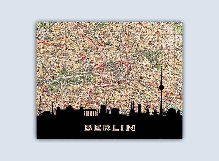 59 Best City Street Map Skyline Images On Pinterest | City Streets Regarding City Prints Map Wall Art (Image 6 of 20)