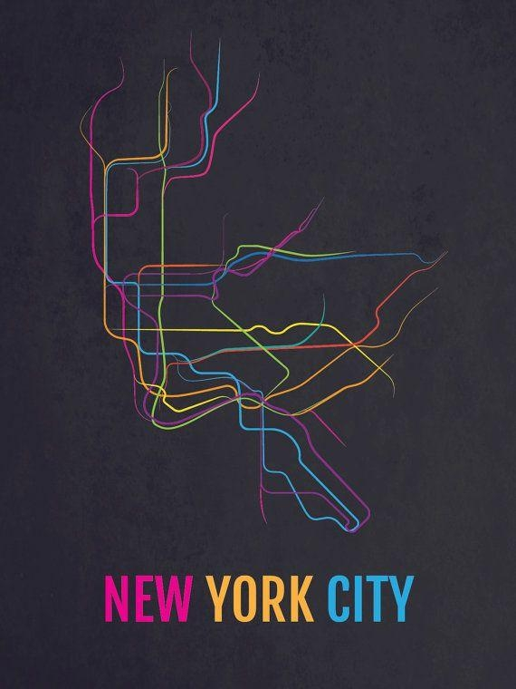 7 Best Art Suggestions Images On Pinterest | City Maps, New York With New York Subway Map Wall Art (Image 2 of 20)