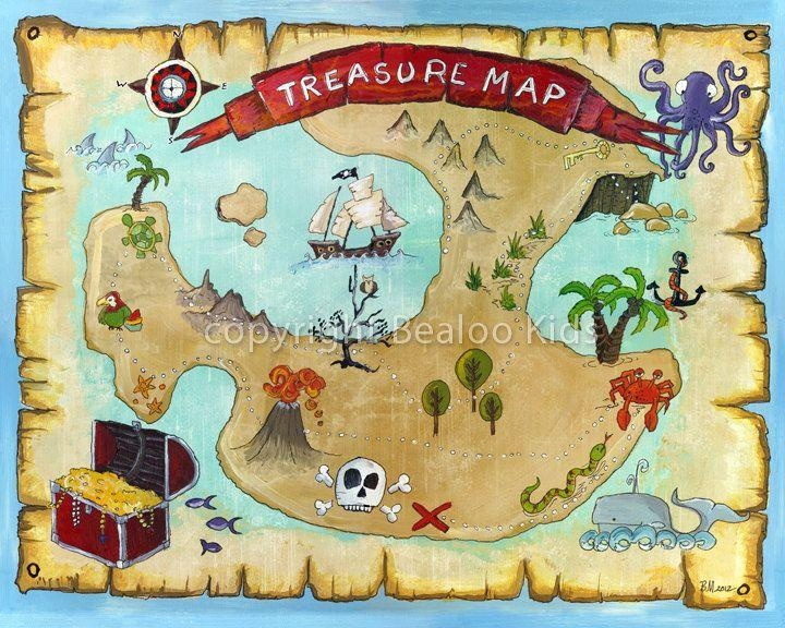 7 Best Pirate Images On Pinterest | Pirate Treasure Maps, Pirate Throughout Treasure Map Wall Art (Photo 17 of 20)