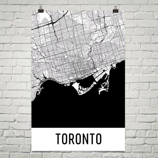 78 Best Toronto Images On Pinterest | Canada Travel, Places To Regarding Toronto Map Wall Art (Image 3 of 20)