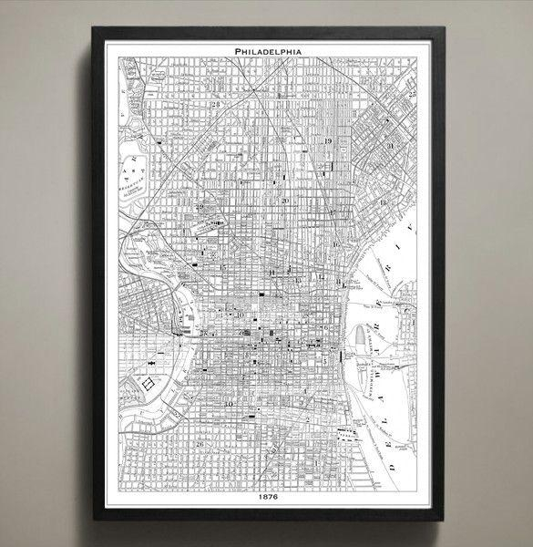 87 Best Philadelphia Images On Pinterest | Philadelphia Pertaining To Philadelphia Map Wall Art (Image 2 of 20)