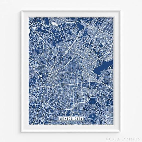 89 Best Foreign Street Map Prints Images On Pinterest | Art For City Prints Map Wall Art (Image 8 of 20)