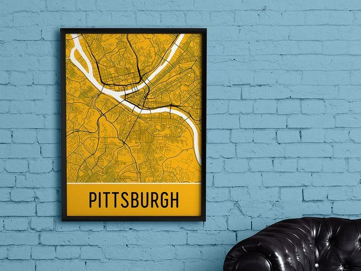 99 Best Best Of Modern Map Art Images On Pinterest | Map Art In Pittsburgh Map Wall Art (Image 4 of 20)