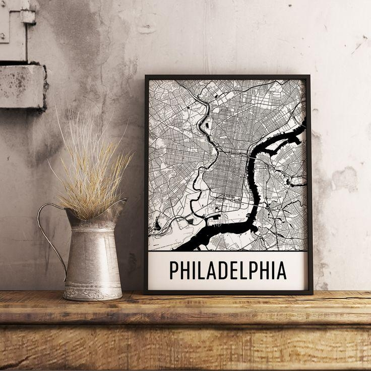 99 Best Best Of Modern Map Art Images On Pinterest | Map Art Inside Philadelphia Map Wall Art (Image 3 of 20)