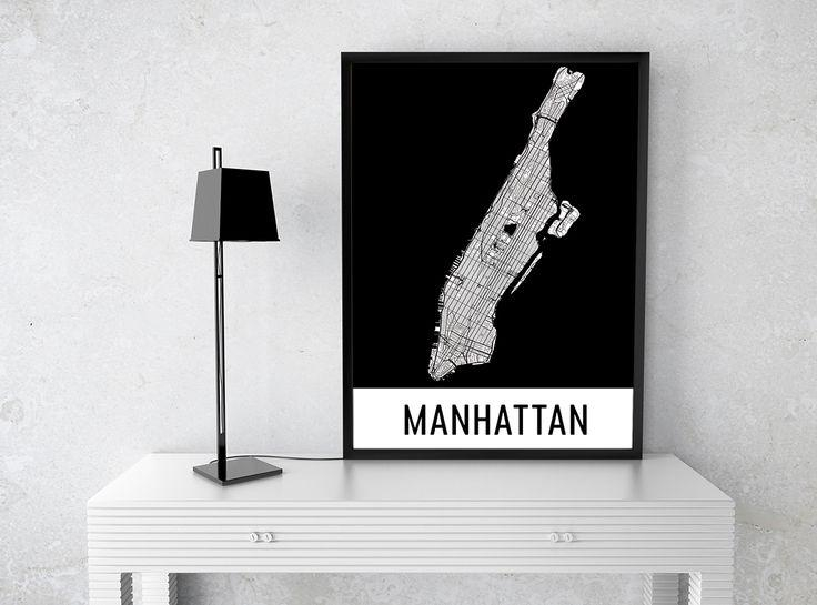 99 Best Best Of Modern Map Art Images On Pinterest | Map Art With Regard To Manhattan Map Wall Art (Image 3 of 20)