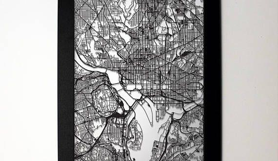 Absolutely Ideas Washington Dc Wall Art Canvas Etsy My Wall Of Life With Regard To Washington Dc Map Wall Art (Image 5 of 20)