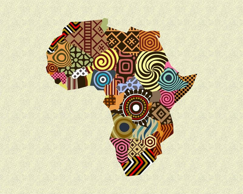 African Map Art, African Wall Art, African Wall Decor, African Within Africa Map Wall Art (Image 9 of 20)