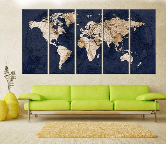 Amazing Best 25 Map Wall Art Ideas On Pinterest World Map Wall Map In Abstract Map Wall Art (View 5 of 20)
