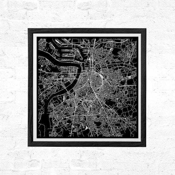 Antwerp Belgium City Map Poster Line Art City Map Road Map Of In City Map Wall Art (Image 6 of 20)