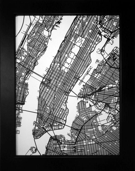 Any City In The World! Choose Your City! Custom Laser Cut Street With Regard To Nyc Map Wall Art (Image 5 of 20)