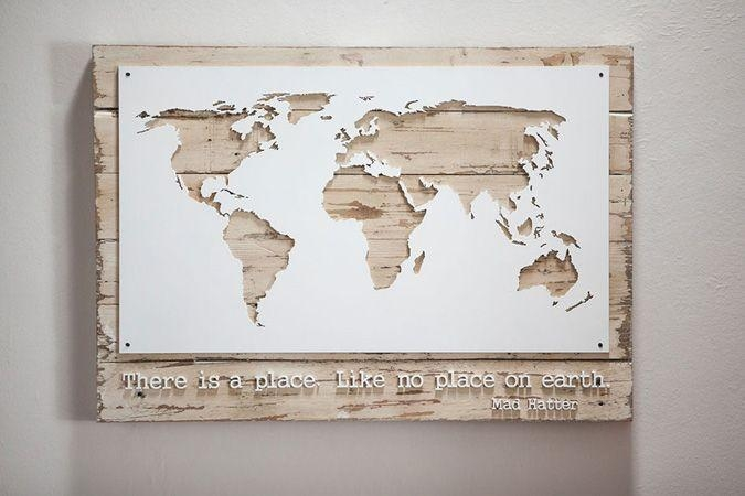 Awesome Wall Art Designs Wall Art Map Of The World Decor Poster Within Travel Map Wall Art (Image 3 of 20)