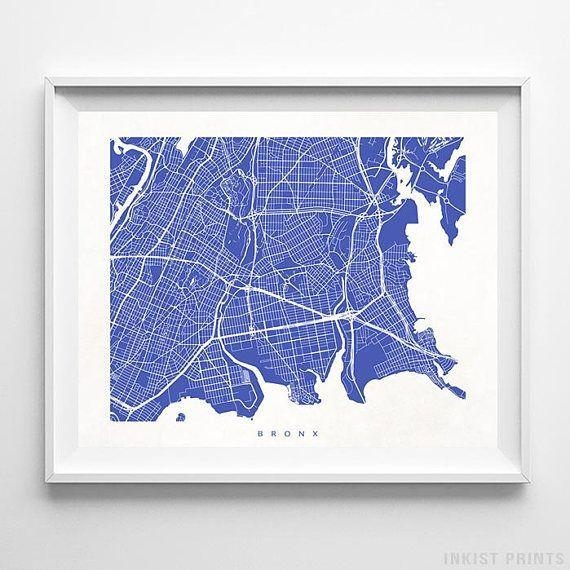 Best 25+ Bronx Map Ideas On Pinterest | Bronx Nyc, Map Of Intended For Manhattan Map Wall Art (Image 4 of 20)