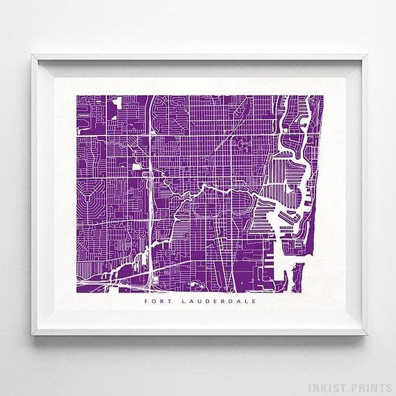 Best 25+ Fort Lauderdale Map Ideas On Pinterest | Fort Lauderdale In Florida Map Wall Art (Image 6 of 20)