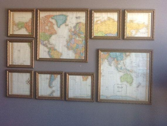 Best 25+ Framed World Map Ideas On Pinterest | World Map With Pins For Framed Map Wall Art (Image 4 of 20)