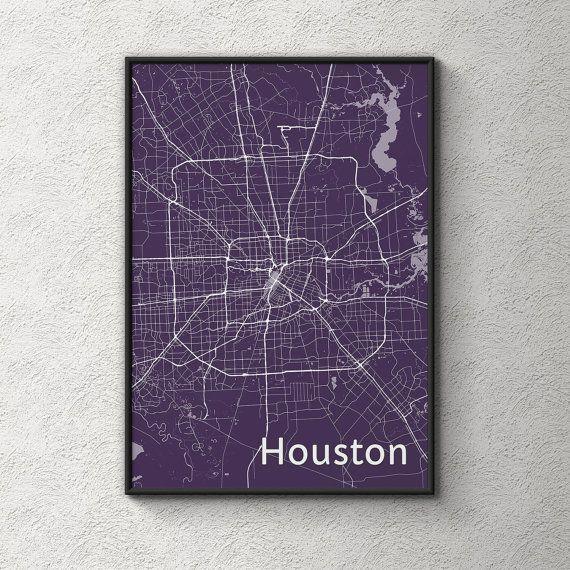 Best 25+ Houston Map Ideas On Pinterest | Houston Neighborhoods Inside Houston Map Wall Art (Image 2 of 20)