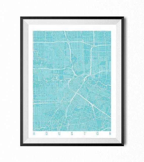 Best 25+ Houston Map Ideas On Pinterest | Houston Neighborhoods Intended For Houston Map Wall Art (Image 3 of 20)