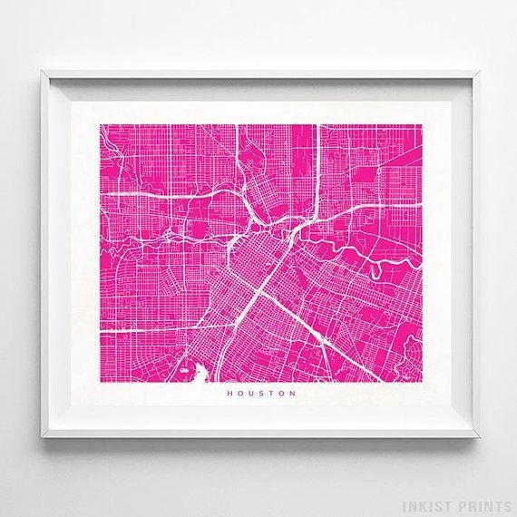 Best 25+ Houston Map Ideas On Pinterest | Houston Neighborhoods Regarding Houston Map Wall Art (Image 4 of 20)