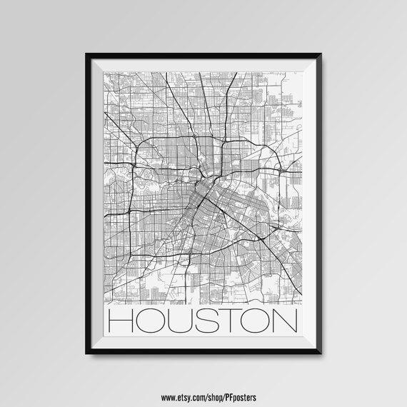 Best 25+ Houston Map Ideas On Pinterest | Houston Neighborhoods Throughout Houston Map Wall Art (View 17 of 20)