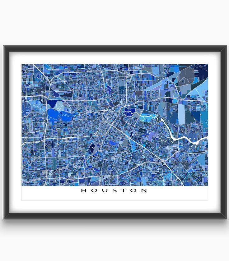 Best 25+ Houston Map Ideas On Pinterest | Houston Neighborhoods With Houston Map Wall Art (Image 9 of 20)