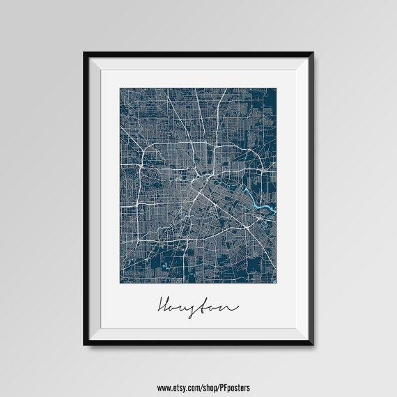 Best 25+ Houston Map Ideas On Pinterest | Houston Neighborhoods With Regard To Houston Map Wall Art (View 3 of 20)