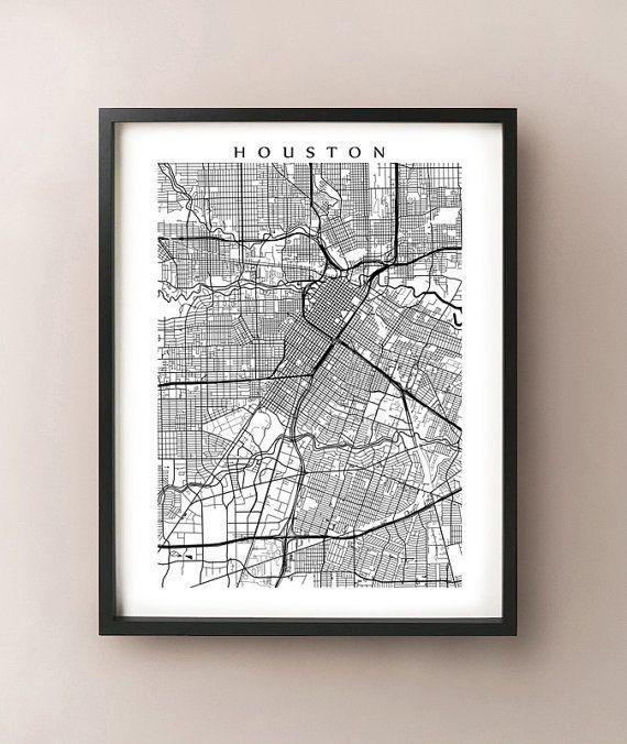 Best 25+ Houston Map Ideas On Pinterest | Houston Neighborhoods Within Houston Map Wall Art (View 2 of 20)