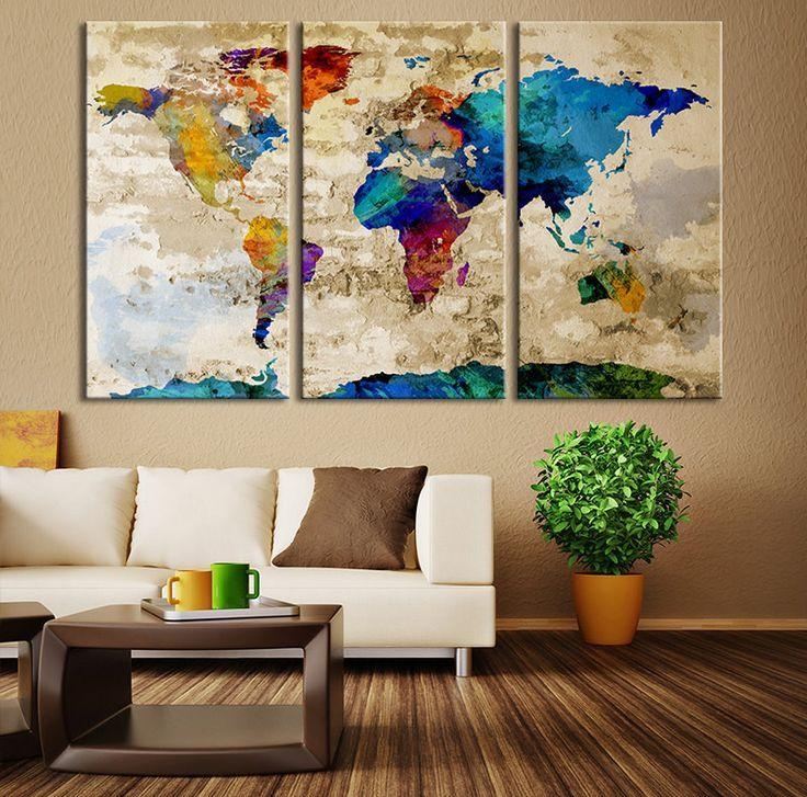 Best 25+ Map Canvas Ideas On Pinterest | World Map Canvas, World Inside World Map Wall Artwork (Image 7 of 20)
