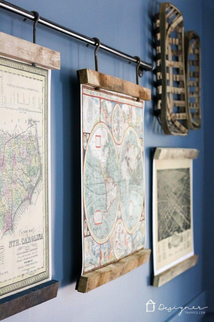 Best 25 Map Wall Art Ideas On Pinterest Map Wall Decor Travel Map For Framed Map Wall Art (Image 3 of 20)