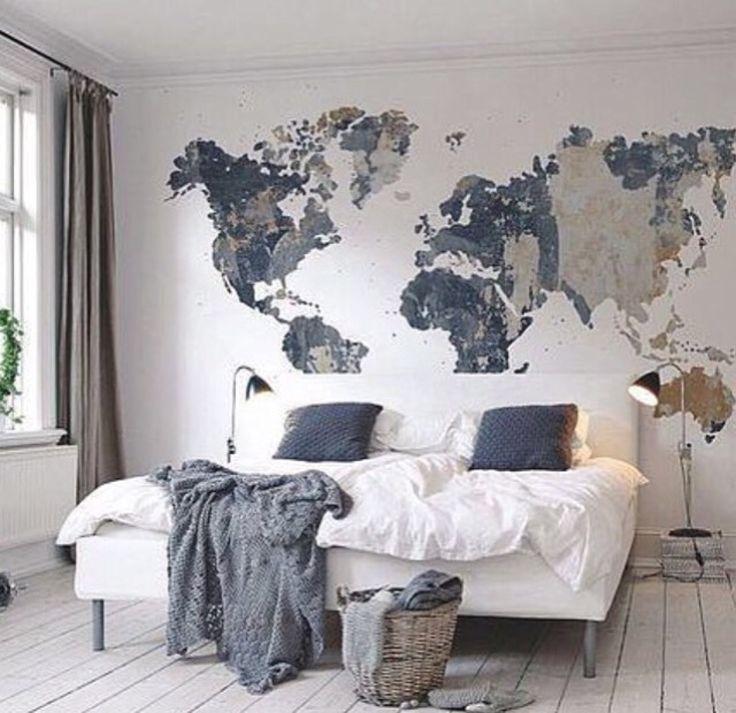 Best 25+ Map Wall Art Ideas On Pinterest | World Map Wall Art In Cool Map Wall Art (Image 9 of 20)