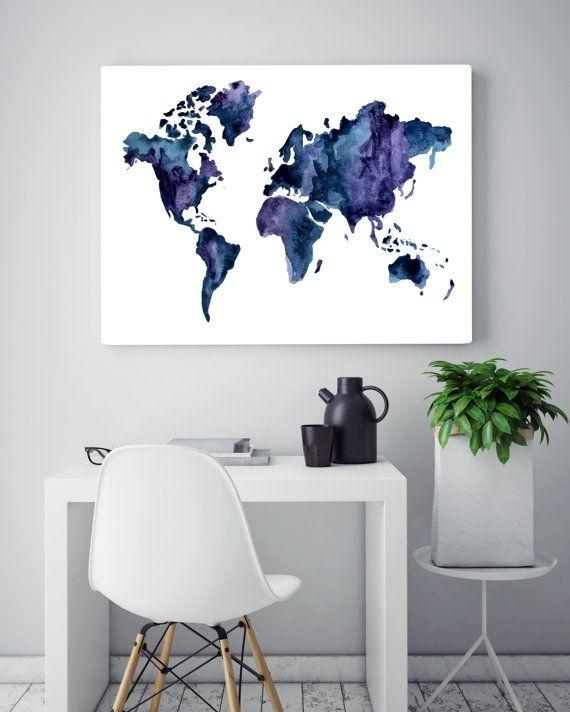 Best 25+ Map Wall Art Ideas On Pinterest | World Map Wall Art In Personalized Map Wall Art (Image 4 of 20)