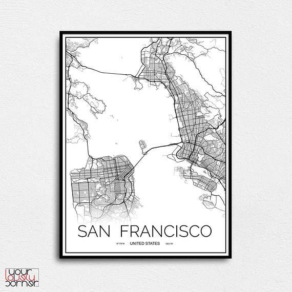 Best 25+ Map Wall Art Ideas On Pinterest | World Map Wall Art In San Francisco Map Wall Art (Image 5 of 20)