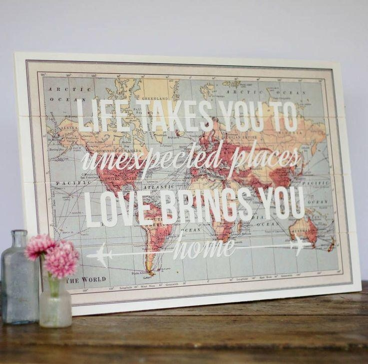 Best 25+ Map Wall Decor Ideas On Pinterest | Map Wall Art, World Regarding Map Wall Art Maps (Image 5 of 20)