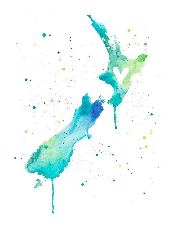 Best 25+ New Zealand Art Ideas On Pinterest | New Zealand With New Zealand Map Wall Art (View 16 of 20)