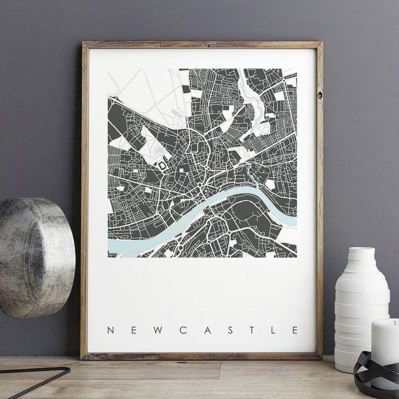 Best 25+ Newcastle Map Ideas On Pinterest | York England Map, Uk With City Prints Map Wall Art (Image 10 of 20)