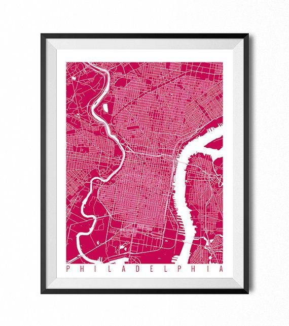 Best 25+ Philadelphia Map Ideas On Pinterest | Maps S, Map Of Inside Philadelphia Map Wall Art (Image 8 of 20)