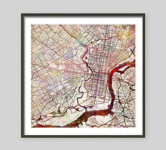 Featured Image of Philadelphia Map Wall Art