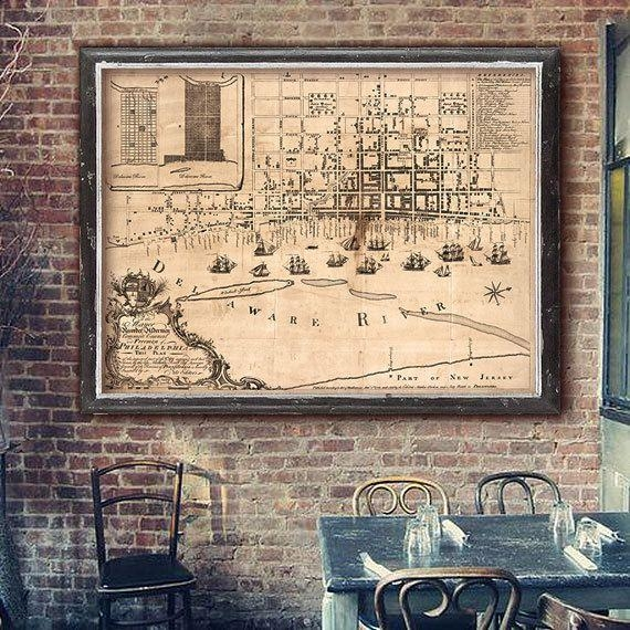 Best 25+ Philadelphia Map Ideas On Pinterest | Maps S, Map Of Throughout Philadelphia Map Wall Art (Image 11 of 20)