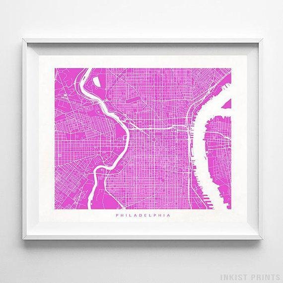 Best 25+ Philadelphia Map Ideas On Pinterest | Maps S, Map Of With Philadelphia Map Wall Art (Image 12 of 20)