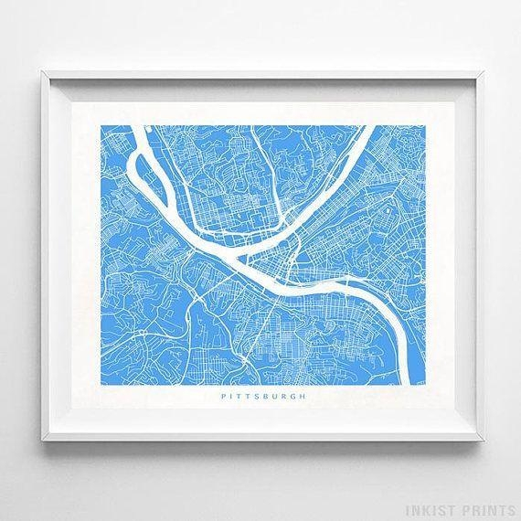 Best 25+ Pittsburgh Map Ideas On Pinterest | Pittsburgh Art Inside Pittsburgh Map Wall Art (View 5 of 20)