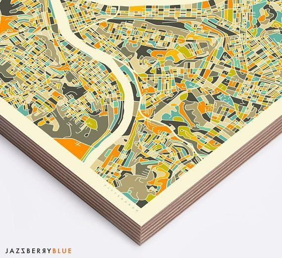 Best 25+ Pittsburgh Map Ideas On Pinterest | Pittsburgh Art With Pittsburgh Map Wall Art (View 13 of 20)